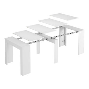 Extendable Console Table, Bright White