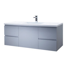 Vanity Adams 49 With Solid Surface Top, Matt White