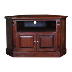 la roque mahogany corner television cabinet with 2 cupboards and 1 shelf