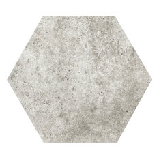 "Newberry Grigio 10""x11"" HEX Porcelain Floor Tile Tile, Set of 20"