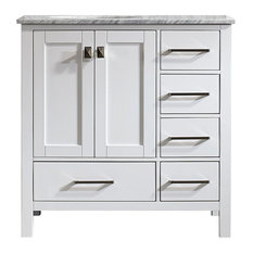 bay pierre vanity without mirror white 36 bathroom vanities and sink - Houzz Bathroom Vanities