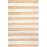 nuLOOM - Jute and Denim Even Stripes Area Rug, Bleached, 5'x8' - Made from the finest materials in the world and with the uttermost care, our rugs are a great addition to your home.