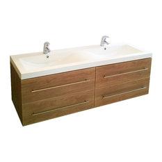 Emotion Persepolis Bathroom Furniture, 144 cm, Light Oak