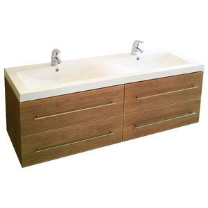 Emotion Persepolis Bathroom Furniture, 144 cm, Light Oak