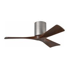 Tiny house interior ceiling fans houzz mathews fan irene 3 blade paddle ceiling fan with walnut tone blades nickel finish aloadofball Images