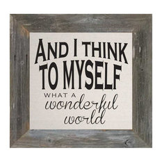 Wonderful World, 30x30x5/8