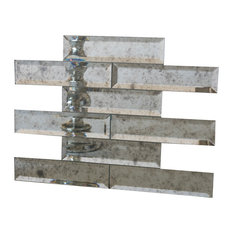 Rock Bottom Tile And Stone 2 X8 Beveled Edge Mirror Set