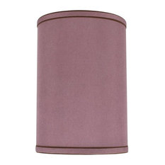 "Aspen Creative 31020 Hardback Drum Spider Lamp Shade in Reddish Purple 8""x8""x11"""