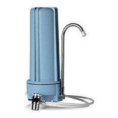 iSpring CT10 Countertop Multi Filtration Drinking Water Filter Dispenser, Blue