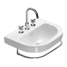 """Catalano 156CV00 Canova Royal 22.05""""x17.32"""" Fireclay Washbasin, White"""
