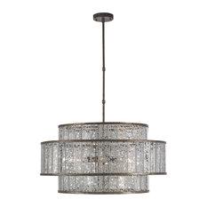 Mid-Century Modern Fantine Chandelier 8-Light