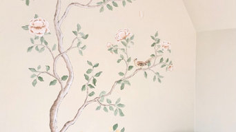 Chinoiserie Mural Painting For Interior Bedroom