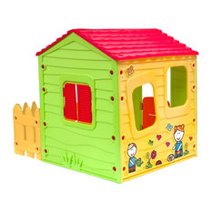 Starplay Farmhouse Playhouse with One Side Fence