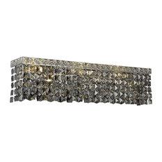 Elegant Lighting Maxime 6-Light Wall Sconce, Swarovski Elements, Silver Shade Gr