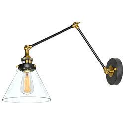 Fabulous Industrial Swing Arm Wall Lamps by LNC Lighting