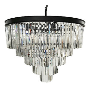 12-Light Luxury Modern Crystal Chandelier Pendant Ceiling Light