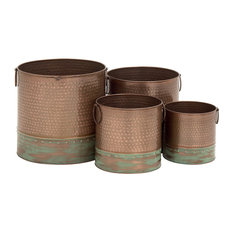 Severo 4-Piece Metal Planter Set