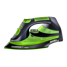 Eureka Champion 1500 Watt Iron With 8 ft. Retractable Cord Pouch Included, Green