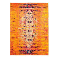 Monaco Area Rug, Rectangle, Orange-Multi, 8'x10'