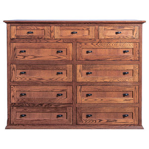 Mission Oak Eleven Drawer Chest Unfinished Alder