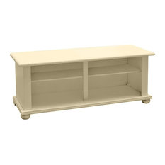 Wooden Onion Foot TV Stand, Ivory