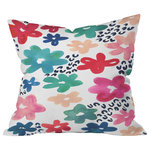 Deny Designs - Deny Designs Kerri Satava Flower Pop Outdoor Throw Pillow - Do you hear that noise? It's your outdoor area begging for a facelift and what better way to turn up the chic than with our outdoor throw pillow collection? Made from water and mildew proof woven polyester, our indoor/outdoor throw pillow is the perfect way to add some vibrance and character to your boring outdoor furniture while giving the rain a run for its money. Custom printed in the USA for every order. Note: Accessories not included.