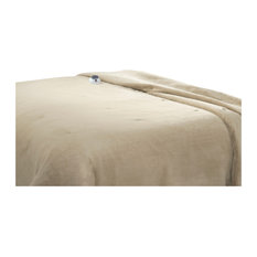 Soft Heat Luxe Plush Warming Blanket, Queen, Pearl