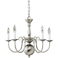 Signature 5 Light Chandelier in Brushed Nickel