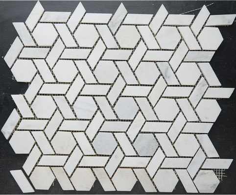 """Windmill"" Shaped Marble Mosaic - Tile"