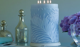Heligan Luxury Patterned Large Candle Froth on Moonstone