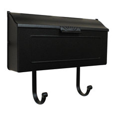 Horizon Horizontal Mailbox, Black
