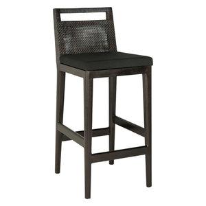 Risom Style Counter Stool Black Contemporary Bar