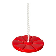 Daisy Disc Swing Seat With Rope, Red