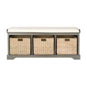 Lonan Wicker Storage Bench