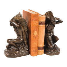 Kneeling Indian Chief Bookends