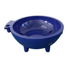 ALFI Brand The Round Fire Burning Portable Outdoor Hot Tub, Dark Blue