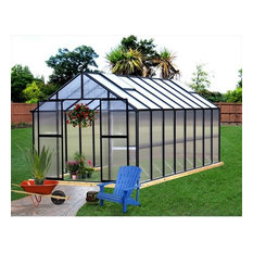 Riverstone Industries Monticello 8'x16' Greenhouse, Black Finish