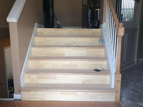 ... Molding Provides A Bit More Of A Finished Look, But Iu0027m Also Thinking  It May Make My Stairs Look Too Traditional. Can Anyone Help Me With This  Decision ...
