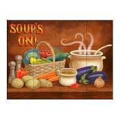 Tile Mural, Soups On by Mary Lou Troutman