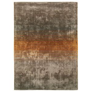 Holborn Stripe Rug, Orange, 160x230 cm
