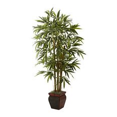 """5.5"""" Bamboo With Decorative Planter, Green"""