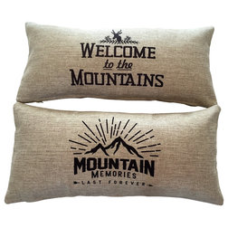 Rustic Decorative Pillows by Evelyn Hope Collection