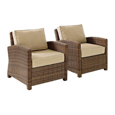 Bradenton 2-Piece Outdoor Wicker Seating Set , Two Arm Chairs, Sand
