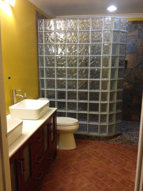 Barrier Free Shower Base And Glass Block Shower In Dayton Ohio Magnificent Bathroom Remodeling Dayton Ohio Property