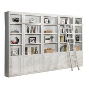 Parker House, Boca Inset Library Wall Bookcase, Cottage White