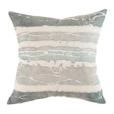 "Canyon Light Stone Linen Pillow, 24""x24"", Case Only: No Insert"