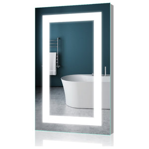 "LED Backlit Mirror Vertical/Horizontal Wall-mounted Mirror Hardwired, 20""x28"""
