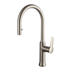 Blossom Single Handle Pull Down Kitchen Faucet, Brush Nickel