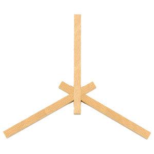 Zas Wooden Trivet, 3-Point