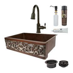 Premier Copper Products KSP2_KASDB33229S-NB Combination Kitchen Sink Fixture